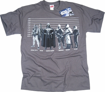 STAR WARS T-SHIRT BOUNTY HUNTER LINE UP TEE