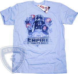 STAR WARS T-SHIRT EMPIRE STIKES BACK MOVIE POSTER TEE
