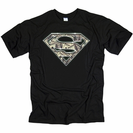 SUPERMAN ALL ABOUT THE BENJAMINS MENS T-SHIRT