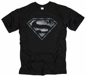 SUPERMAN BARBED WIRE MENS T-SHIRT