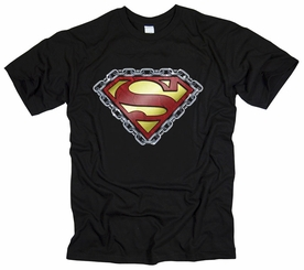 SUPERMAN CHAINED SHIELD MENS T-SHIRT