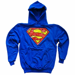 Superman Hoodie, Officially Licensed DC Comic Men's Shield Logo