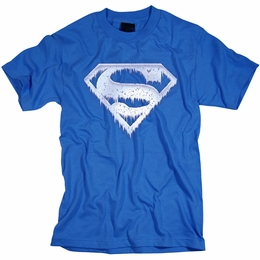 SUPERMAN ICE AND SNOW SHIELD MENS T-SHIRT