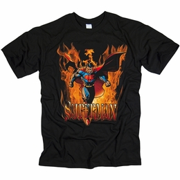 SUPERMAN OUT OF THE FIRE MENS T-SHIRT