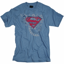 SUPERMAN STAR AND CHAINS MENS T-SHIRT