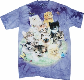 THE MOUNTAIN T-SHIRT 10 KITTENS TEE