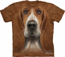 THE MOUNTAIN T-SHIRT BASSET HOUND T-SHIRT