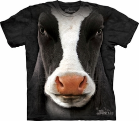 THE MOUNTAIN T-SHIRT BLACK COW FACE TEE