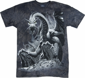 THE MOUNTAIN T-SHIRT BLACK DRAGON TEE