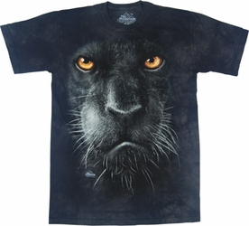 THE MOUNTAIN T-SHIRT BLACK PANTHER FACE TEE
