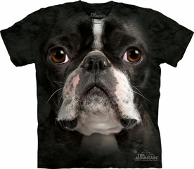 THE MOUNTAIN T-SHIRT BOSTON TERRIER FACE TEE