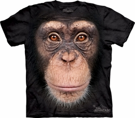 THE MOUNTAIN T-SHIRT CHIMP FACE ADULT TEE