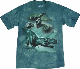 THE MOUNTAIN T-SHIRT DINOSAUR COLLAGE YOUTH TEE