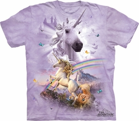 THE MOUNTAIN T-SHIRT DOUBLE RAINBOW UNICORN TEE