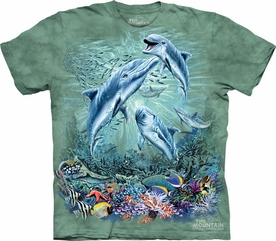 THE MOUNTAIN T-SHIRT FIND 12 DOLPHINS TEE