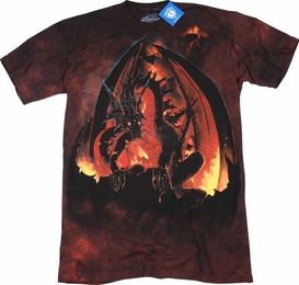 THE MOUNTAIN T-SHIRT FIREBALL DRAGON TEE