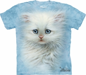 THE MOUNTAIN T-SHIRT FLUFFY WHITE KITTEN T-SHIRT