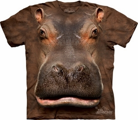 THE MOUNTAIN T-SHIRT HIPPO HEAD ADULT TEE