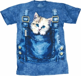 THE MOUNTAIN T-SHIRT KITTY OVERALLS TEE