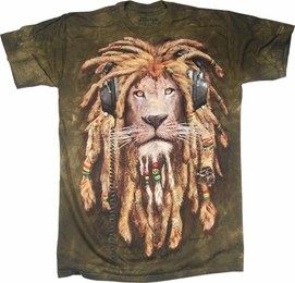 THE MOUNTAIN T-SHIRT MANIMALS RASTA LION TEE