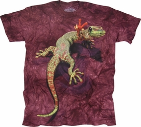 THE MOUNTAIN T-SHIRT PEACE OUT GECKO