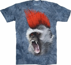 THE MOUNTAIN T-SHIRT PUNKY MOHAWK MONKEY TEE
