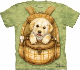 THE MOUNTAIN T-SHIRT PUPPY BACKPACK YOUTH TEE