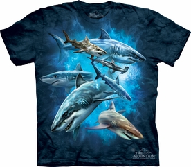THE MOUNTAIN T-SHIRT SHARK COLLAGE ADULT TEE