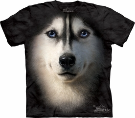 THE MOUNTAIN T-SHIRT SIBERIAN HUSKY FACE TEE