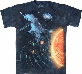 THE MOUNTAIN T-SHIRT SOLAR SYSTEM TEE