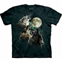 THE MOUNTAIN T-SHIRT THREE WOLF MOON GLOW-IN-THE-DARK  TEE