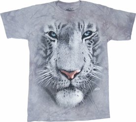 THE MOUNTAIN T-SHIRT WHITE TIGER FACE TEE