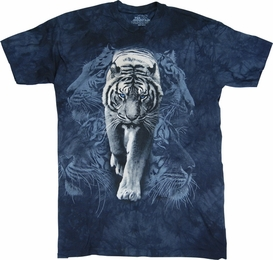 THE MOUNTAIN T-SHIRT WHITE TIGER STALK TEE