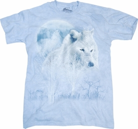 THE MOUNTAIN T-SHIRT WHITE WOLF MOON TEE