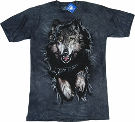 THE MOUNTAIN T-SHIRT WOLF BREAKTHROUGH TEE