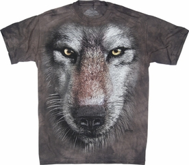 THE MOUNTAIN T-SHIRT WOLF FACE TEE
