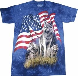 THE MOUNTAIN T-SHIRT WOLF FLAG TEE