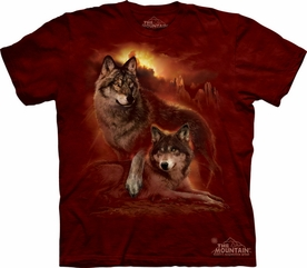 THE MOUNTAIN T-SHIRT WOLF SUNSET YOUTH TEE
