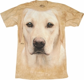 THE MOUNTAIN T-SHIRT YELLOW LAB PORTRAIT TEE