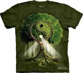 THE MOUNTAIN T-SHIRT YIN YANG TREE T-SHIRT