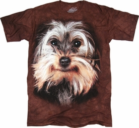 THE MOUNTAIN T-SHIRT YORKSHIRE TERRIER FACE TEE