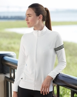 Adidas - Womens ClimaLite® 3-Stripes French Terry Full-Zip Jacket - A91 - S-2XL