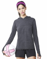 All Sport - Ladies Triblend Long Sleeve Hooded Pullover - W3101 - S-2XL - 4 Colors