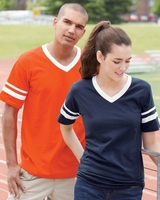 Augusta Sportswear - Unisex - V-Neck Jersey with Striped Sleeves - 360 - S-2XL - 10 Colors