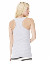 Bella - Ladies 2x1 Rib Racerback Longer Length Tank Top - 4070 - 5 Colors - S-2XL