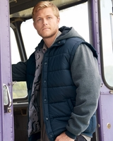 Burnside - Nylon Vest with Fleece Sleeves Jacket - B8701 - 3 Colors - S-3XL