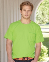 Hanes - Beefy-T with a Pocket - 5190 - 17 Colors - S-3XL