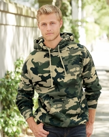 Independent Trading Co. - Camo Hooded Pullover Sweatshirt - IND4000 - XS-3XL - 2 Colors