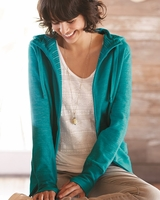 Independent Trading Co. - Women's Baja Stripe French Terry Hooded Full-Zip Sweatshirt - PRM655BZ - S-2XL - 5 Colors