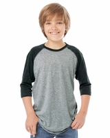 LAT - Youth Vintage Fine Jersey Three-Quarter Sleeve Baseball T-Shirt - 6130 - S-XL